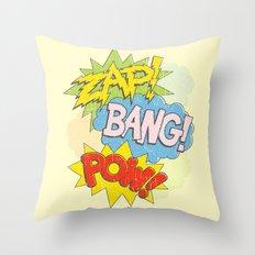 Zap! Bang! Pow! Throw Pillow