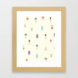 Fresh Popsicles Framed Art Print
