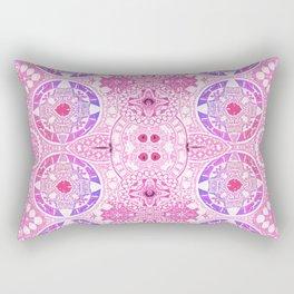 Hand Inked Antique Spanish Mandala Stamp Rectangular Pillow
