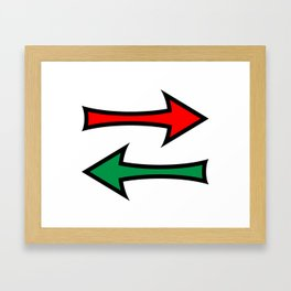 Left And Right Direction Arrows Framed Art Print