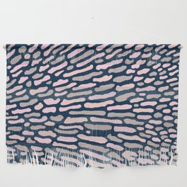 Organic Abstract Navy Blue Wall Hanging
