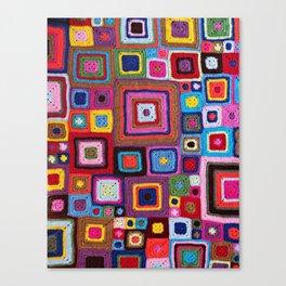 cozy crochet  Canvas Print