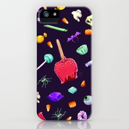 Halloween Candy Pattern iPhone Case