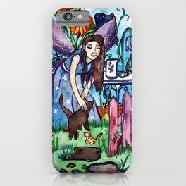Blue Fairy´s Garden iPhone Case