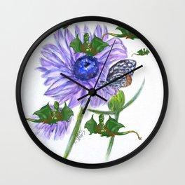Buterflies And Strange Dragon Flies Wall Clock