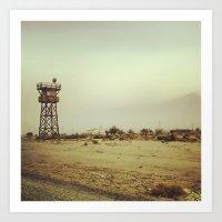 Manzanar Watchtower Art Print