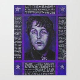 Paul in Purple Canvas Print