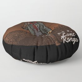 Wild West Lone Ranger Texas Law Shootout Floor Pillow