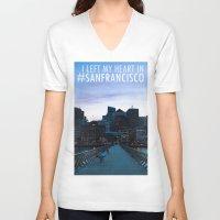 metropolis V-neck T-shirts featuring Metropolis by Pan Kelvin