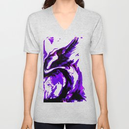 Fluid Abstract 25 Unisex V-Neck