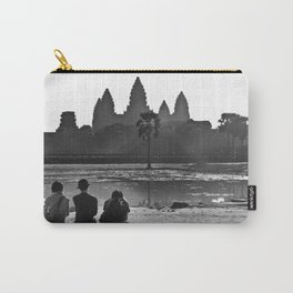 Three amigos enjoying the view of Angkor Wat Carry-All Pouch