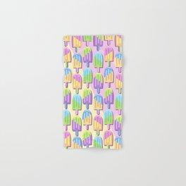 Ice Lollipops Popsicles Summer Punchy Pastels Colors Pattern Hand & Bath Towel