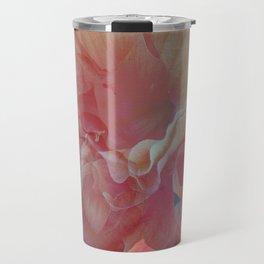 Orange Hibiscus Pique Travel Mug