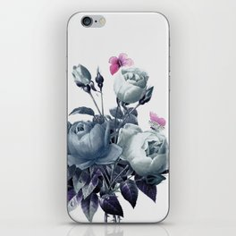 Roses and Butterflies iPhone Skin