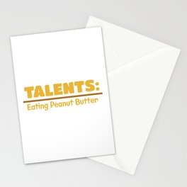 Talents Eating Peanut Butter Stationery Cards