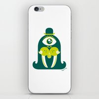 walrus iPhone & iPod Skins featuring Walrus by Lucy Irving