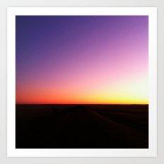Sunset Painting Art Print