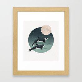 moonlight caravan // orcas Framed Art Print