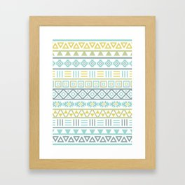 Aztec Influence Ptn Colorful Framed Art Print