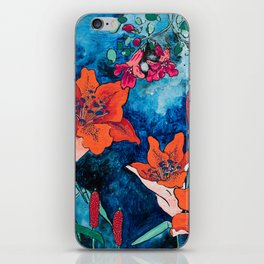 Blooming Night Garden: Twilight iPhone Skin