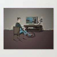 gaming Canvas Prints featuring Pixel Gaming by Steven Kaule