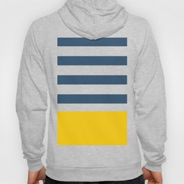 Navy and yellow stripes Hoody