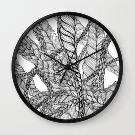 looping braids Wall Clock