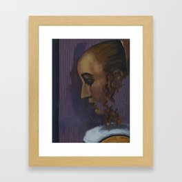 After: Girl Reading a Letter at an Open Window Framed Art Print