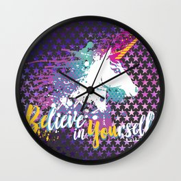 BElive in YOUrself Wall Clock