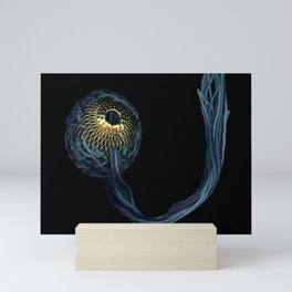 Shades of Blue with Gold Mini Art Print