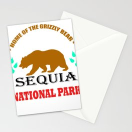 Home Of The Grizzly Bear Sequoia National Park Shirt Stationery Cards