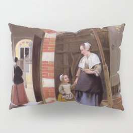 """Pieter de Hooch """"The Courtyard of a House in Delft"""" Pillow Sham"""