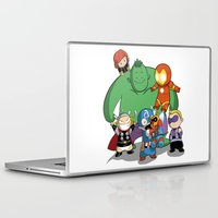 avenger Laptop & iPad Skins featuring The Baby Avenger-s by Tsuki-Nekota
