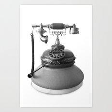 Retro Digital Phone Art Print