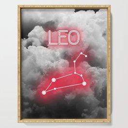 Neon Leo Constellation Serving Tray