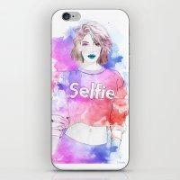 selfie iPhone & iPod Skins featuring Selfie by Sara Eshak