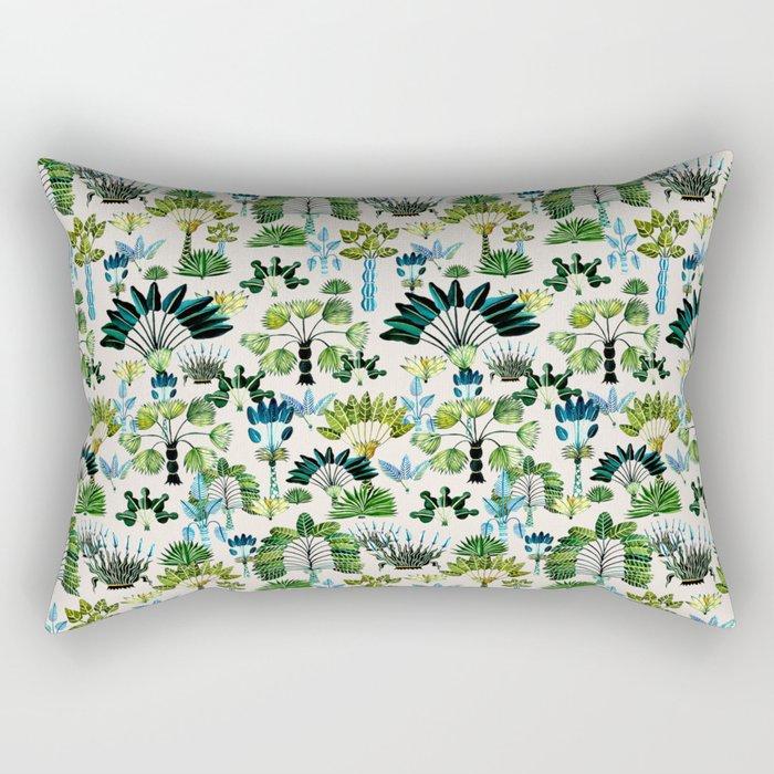 Exotic Garden Green Rectangular Pillow