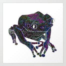 Psychedelic Giant Monkey Frog Art Print