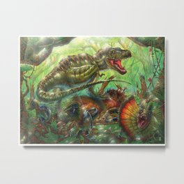 Tyrant Lizard King Metal Print