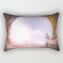 Fantastic Mongolian Mountains Landscape Rectangular Pillow