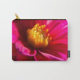Sunlit Dark Pink Dahlia Carry-All Pouch