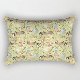 Woodland Animals In Forest Rectangular Pillow