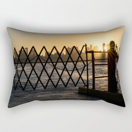 Staten Island Ferry: Sunrise Rectangular Pillow