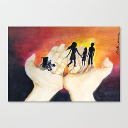 You Have Power To Reunite a Family in The Palm of Your Hands Canvas Print