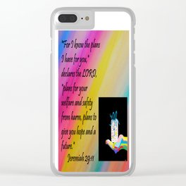 PLANS FOR HOPE AND A FUTURE Clear iPhone Case