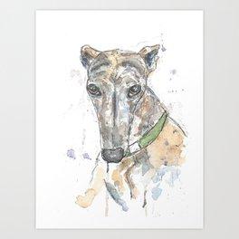 Brindle dog. Art Print