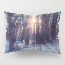 Breaking Through light in the woods Pillow Sham