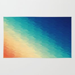 Warm to Cool Texture Rug