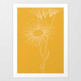 Floral Study In Yellow Art Print
