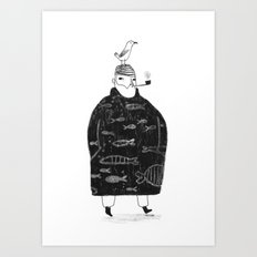 The Sailor and the Seagull Art Print